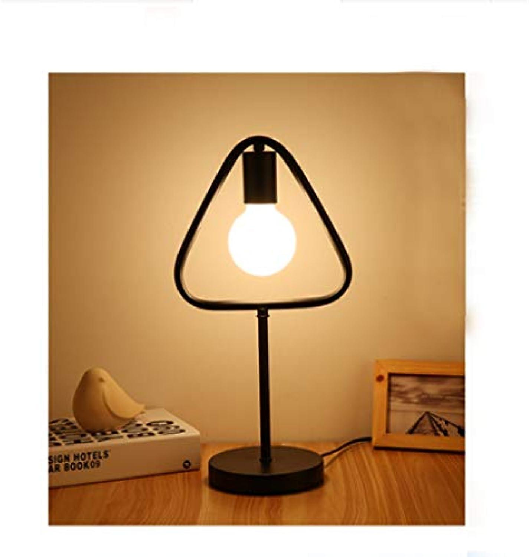 YXWtda Schreibtischlampen Eisen Schlafzimmer warmes Licht, 42cm hohe LED Tischlampe (schwarz und wei optional) Tischlampe (Farbe   SCHWARZ, Form   A3)
