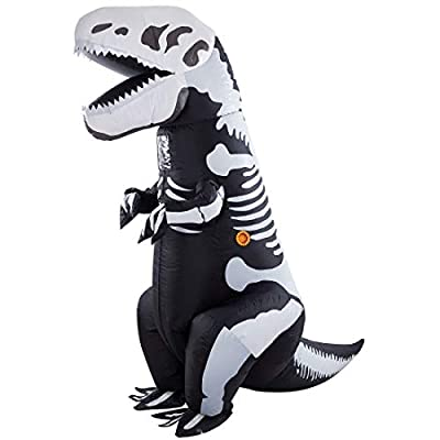 Twinkle Star 8.2FT Halloween Costume Adult Inflatable Skeleton Dinosaur, Tyrannosaurus T-Rex Halloween Decorations Party Fancy Dress Funny Cosplay Jumpsuit White from Twinkle Star