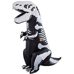 9. Twinkle Star Adult Inflatable T-Rex Dinosaur Skeleton Costume