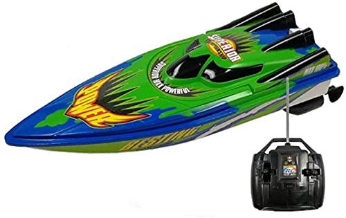 Electric Sports Racing Remote Control Barca Anti-collisione e A prova di goccia RC Boat USB Carica RC Ship Ship Acqua Raffreddamento Funzione Fish Tank Giocattolo Regali per bambini oltre 3 anni