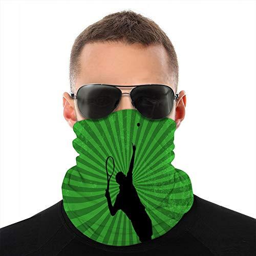 Vbndfghjd - Funda de microfibra unisex para el cuello de la cubierta de la bandana, pasamontañas con jugador de tenis