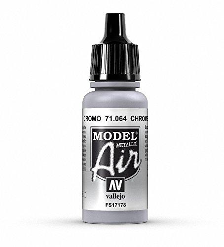 Vallejo Model Air Acrylfarbe, 17 ml Metallic Chrome