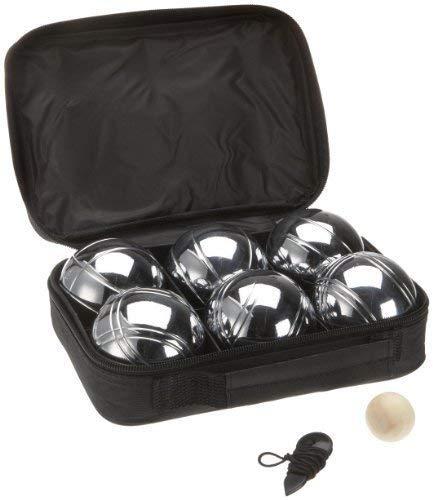 Sacoche de 6 boules de petanques chromees - jeu dadresse - p