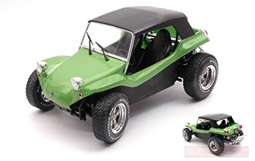 NEW SOLIDO SL1802703 Manx Meyers Buggy Soft ROOF 1968 Green 1:18 MODELLINO DIE CAST