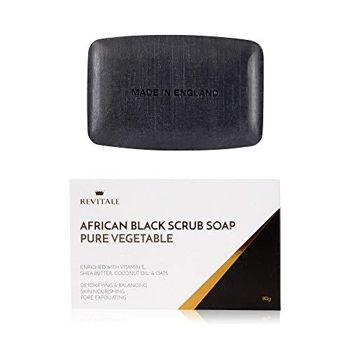 Revitale African Black Natural Oat Scrub Soap - Pure Vegetable