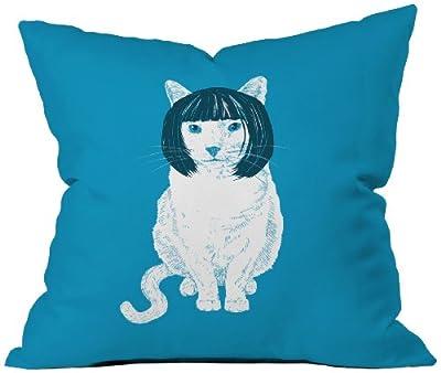 DENY Designs Matt Leyen Bobcat Throw Pillow, 18 by 18 Inch