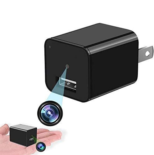 Cámara espía Oculta en el Cargador de Trabajo USB con micrófono 1080 HD Vigilancia Nanny CAM No WiFi