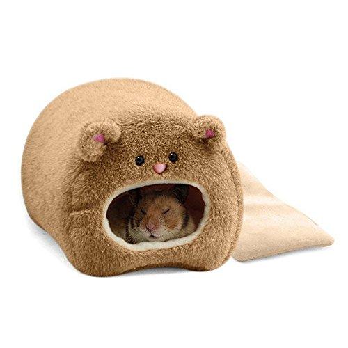 REFURBISHHOUSE Ratten-Hamster-Winter-warme haengende Kaefig-Haengematte-niedliches Baeren-Haus mit Bett-Matte Fuer Kleine Pelztiere