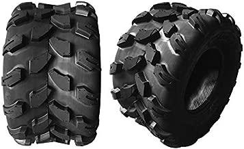 SUNROAD Set of 2 18X9.5-8 Quad UTV Go Kart Tires ATV Tire 4PR Tubeless Directional Tread Z-124 4Ply