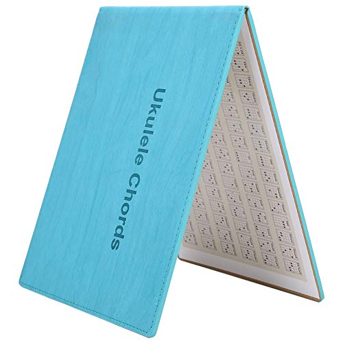 Drfeify Libro de Acordes de Ukelele, Libro de Arte Portátil para Principiantes Acordes de Ukelele Accesorios para Instrumentos de Cuerda de Ukelele