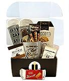 Coffee Lovers Gift Basket Box - Bistro Coffee Mug, Socks, Gourmet Coffee Snacks - Coffee Lover Gifts For Women Men
