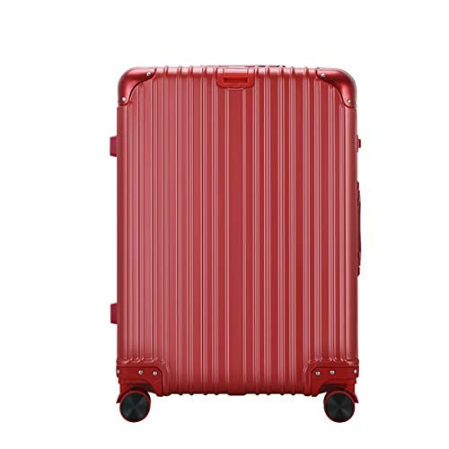 fosa1 Hand Luggage Trolley case PC Convenient Trolley Case,Super Storage Luggage Bag,Wheels Travel Rolling Boarding,20' 24' Inch (Color : Red, Size : 24inch)