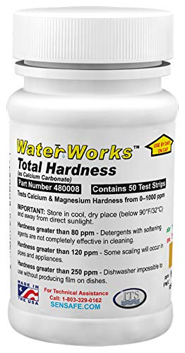 Industrial Test Systems 480008 WaterWorks Total Hardness Test Strips