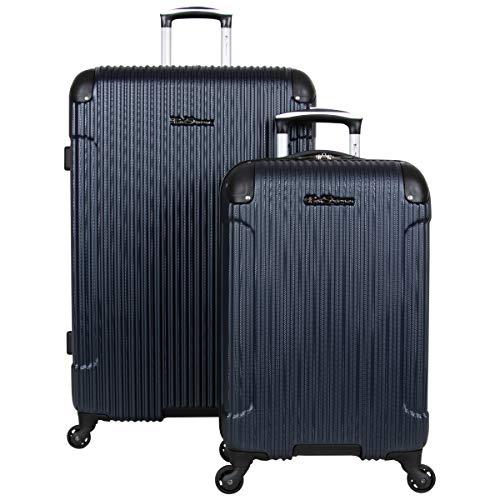 Ben Sherman Charlton Bay Collection Lightweight Hardside 4-Wheel Spinner Travel Luggage, Navy, 2-Piece Set (20' & 28')