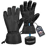 Wildhorn Tolcat Unisex Waterproof Leather Ski Gloves- Touchscreen...