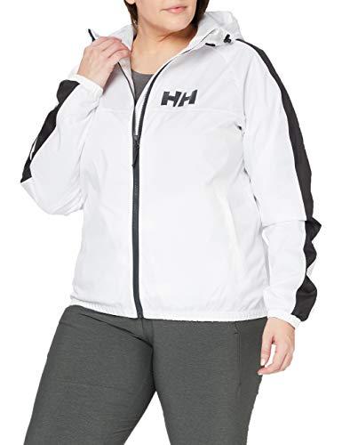 Helly Hansen Vista Packable Regenjacke Chaqueta Impermeable para Mujer, Blanco, Large