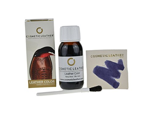 Tintura liquida Blu per Scarpe in Pelle, Vernice per Accessori in Pelle 50 ml Cosmetic Leather