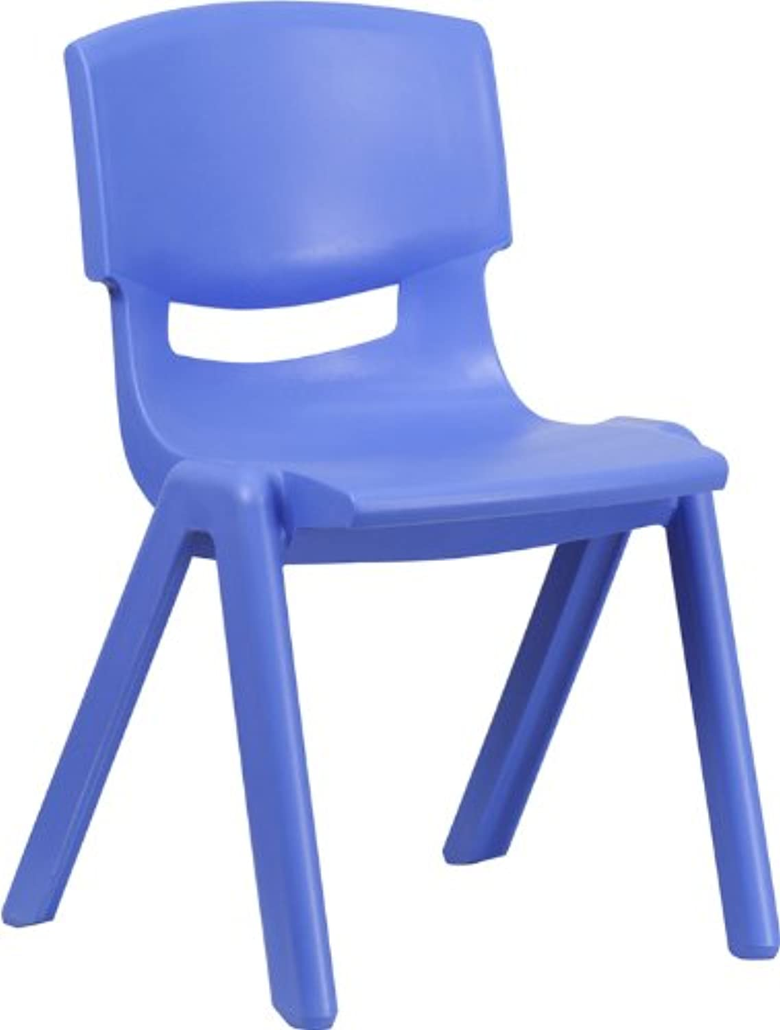 Offex OF-YU-YCX-005-blueE-GG bluee Plastic Stackable School Chair, 15.5-Inch