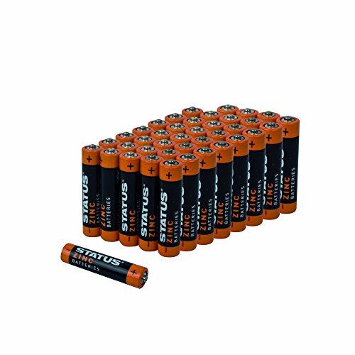 Status szincaaab4pk10AAA Performance Zink Batterien, Schwarz/Bernstein, von 40Stück