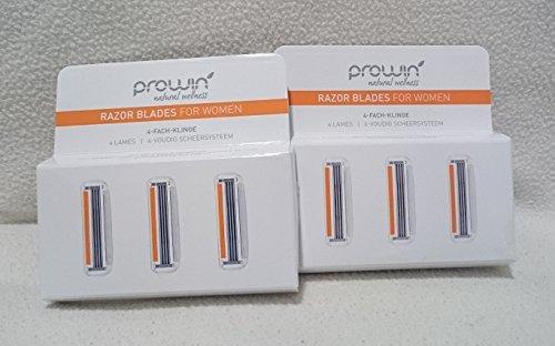 proWin RAZOR BLADES FOR WOMEN, 3 Stück ---Doppelpack