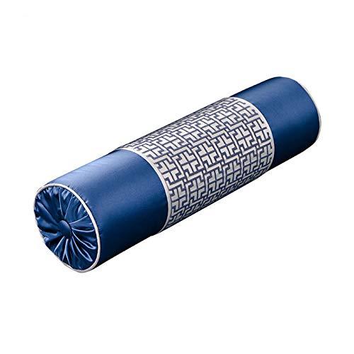QXbecky Fundas de Cojines Funda de Almohada Cuadrada de la Serie de Tinta Azul China (sin núcleo) 45cm sofá Dormitorio Funda de Almohada Decorativa con Cintura 15x55cm