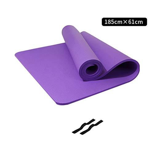 Kemeng vloermatten, veelzijdig bruikbaar, zonder tranen, hoge weerstand, extra breed en dik, yogamat, yogamat, rekoefening, fitness en training, 10 mm dik
