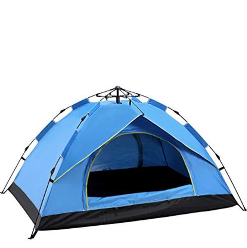 Oofay TAPS Campingzelt im Freien, 3 – 4, automatisch, Regenfeder, schnelles Öffnen und Sonne, Campingzelte – Blau, 01