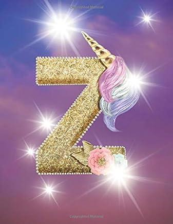 2020 Calendar Planner: Unicorn Lover Monogram Initial Letter Z