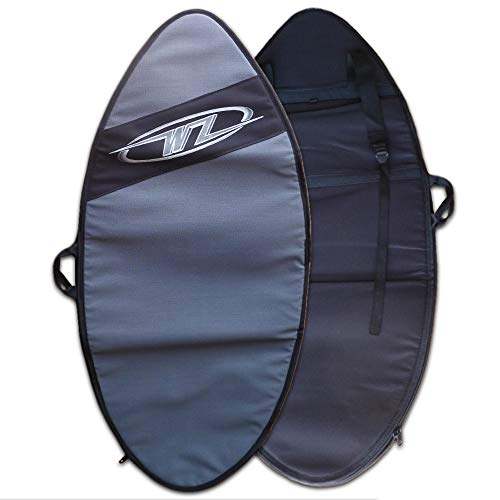 "heavy duty Wave Zone Skimboard Backpack Style Bag-Travel or Day Use-Lining-Silver-2 Size 46 ""or 53.5″ (Small)"