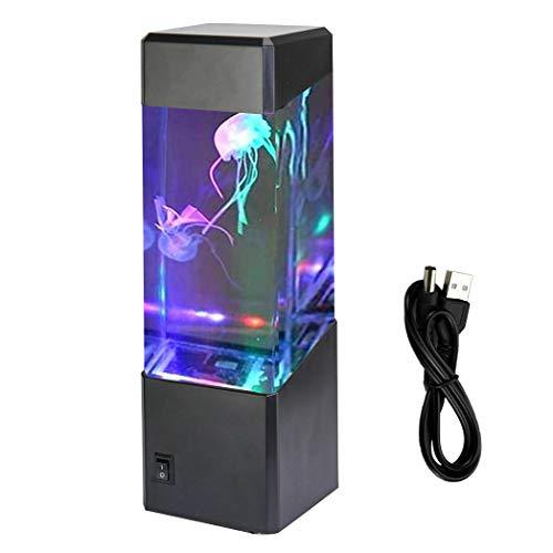Lámpara LED de medusas que cambia de 7 colores, tanque de acuario de peces tropicales eléctricos, luz de humor nocturna, decoración del hogar relajante para regalo