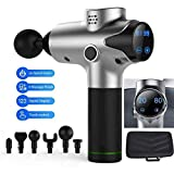 Massage Gun Handheld Muscle Massager - Annamm 03 Cordless Deep Tissue Percussion Muscle Massager for Sore Muscle and Stiffness, Super Quiet Brushless Motor, 6 Massage Heads and 20 Speed Options