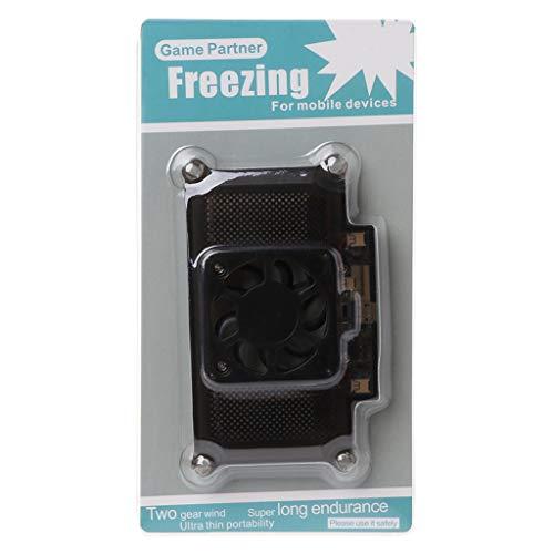 JOYKK Universal Handy Kühler Kühlerhalter Lüfter Kühler für Smartphone Tablet Zubehör - schwarz