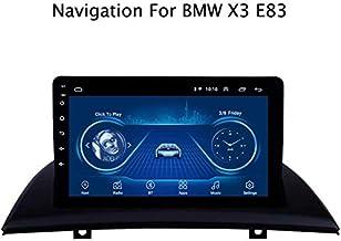 DUMXY Autoradio Android 8.1 9 Pulgadas Radio Coche Reproductor Mp5 MP3 Automóvil Navegación GPS para BMW X3 E83 2004-2012 Apoyo Mandos de Volante/Mirror Link/Bad/USB/AUX in