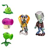 5 PCS Plants Vs. Zombies Toys, Characters Game Doll Soft Vinyl Hard Plastic Launch Figures, Decorative Toys, Great Gifts for Children and Fans