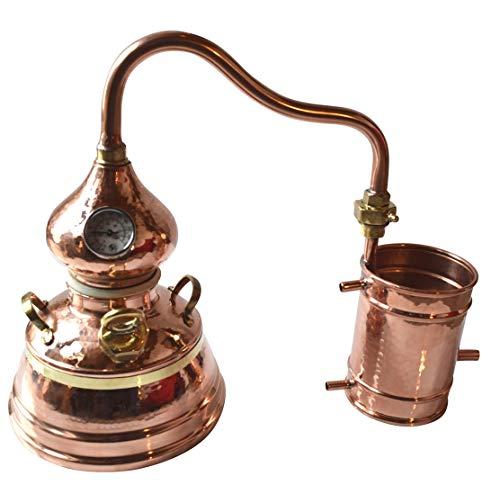 Dr. Richter 2 Liter Kesseldestille mit Thermometer (17cm Bodendurchmesser) High-End Destille 2L