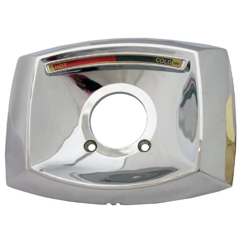 Simpatico 31644C Delta Rectangle Shaped Shower Escutcheon Only For Shower Valve, Chrome Plated