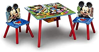 Delta Children Mickey Mouse Kids Table & Chair Set with Storage