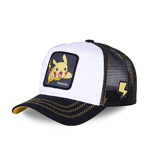 capslab - Gorra Pikachu Pokemon Blanca- Talla Unica - PIK5