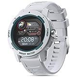 moreFit Fitness Armband Uhr, Voller Touch Screen Smartwatch Rund Sportuhr mit Pulsmesser Stoppuhr...