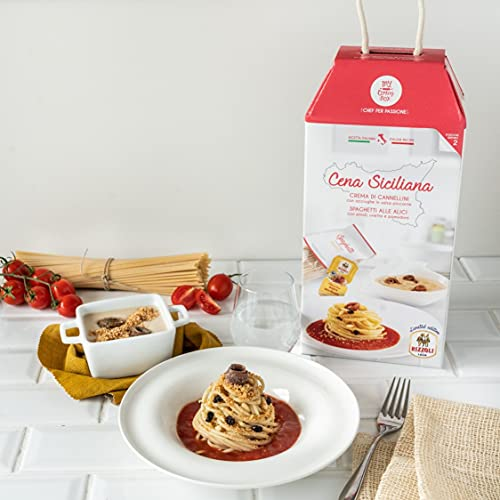 CENA SICILIANA My Cooking Box x2 Porzioni - Per una serata tra amici, una cena romantica o come idea...