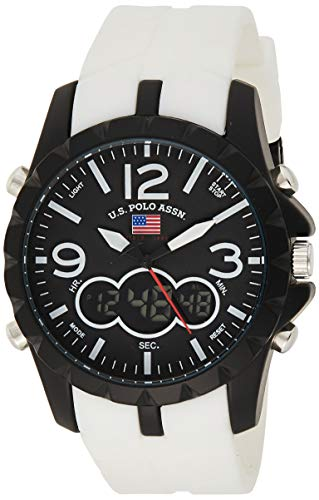 U.S. Polo Assn. Sport Men's US9250 White Analog Digital Sport Watch