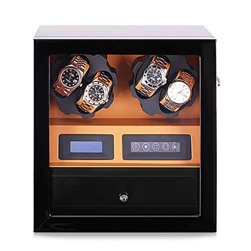 LAMZH Reloj Caja Estuche Bobinadora para 4 Relojes,4+5 Almacenamiento De Piel,Regalo De Cumpleaños,Fiesta Regalo Caja Almacenamiento Reloj (Color : B)