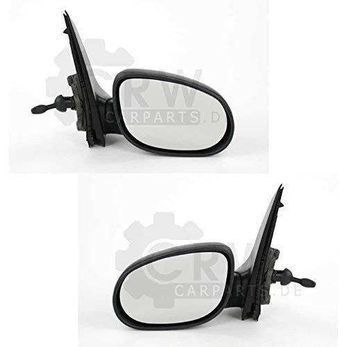 Juego de espejos retrovisores exteriores para KA 09, año de fabricación 02/09, color negro, manual