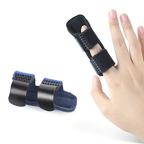 SUPVOX Tutore dita stecca regolabile Tutore Dito Splint Trigger finger Splint per allevia il dolore (Nero)