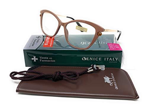 Nieuw model nieuwste mode EXCLUSIVA leesbril, prestige, vermoeide aanzicht, 5 kleuren, Design Venice Premium Parel - Dioptrie: 1 tot 3,5 (chocolade, 1,50)