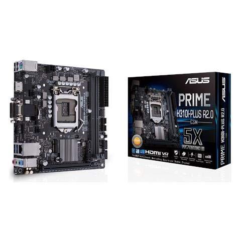 ASUS Prime H310I-PLUS R2.0/CSM - Placa Base Mini ITX (Socket LGA1151, H310, USB 3.1 Gen 1, Gigabit LAN, Tarjeta gráfica integrada, Audio HD (8 Canales)