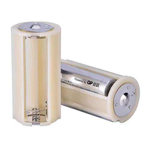 Superieur PP-materiaal 10 stuks 3 AA naar 1 D-serie verbindingsadapter converter batterijhouder koffer, duurzaam stevig