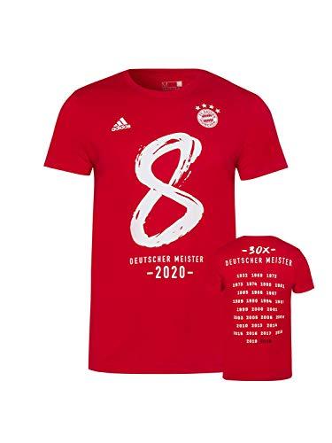 FC Bayern München T-Shirt Deutscher Meister 2020 rot, L