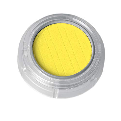 Grimas Lidschatten/Rouge, Döschen 2g, Farbe 281 Signalgelb, Profi-Make-Up, hochpigmentiert