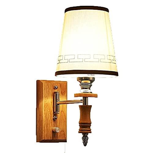 Apliques de pared, candelabro de pared, con interruptores, sin atenuación, base E27 / E26, aplique de pared para mesita de noche, apto para hoteles, pasillos, habitaciones y dormitorios Aplique de p
